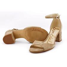 f9214bc1561 Sam Edelman Womens Susie Ankle Strap Block Heel Sandals Oatmeal 7.5 ...
