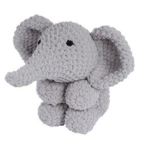 Knitty-Critters-Ollie-Elephant-Complete-Crochet-Kit-300g-Bernat-Blanket-yarn
