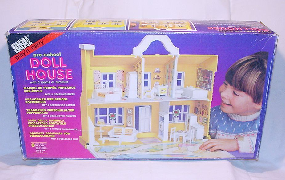 Ideal Play'n voiturery LARGE DOLL haus 5 Rooms + Möbel Loaded Set New  MIB`86