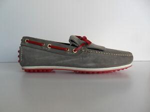 Mocassin-Car-Shoe-homme-acier-rouge