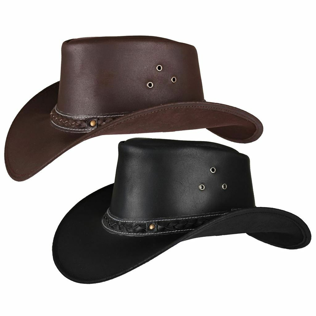 Horka Denver Hat Adult Mens Ladies  Horse Riding Cowboy Leather Western Headwear