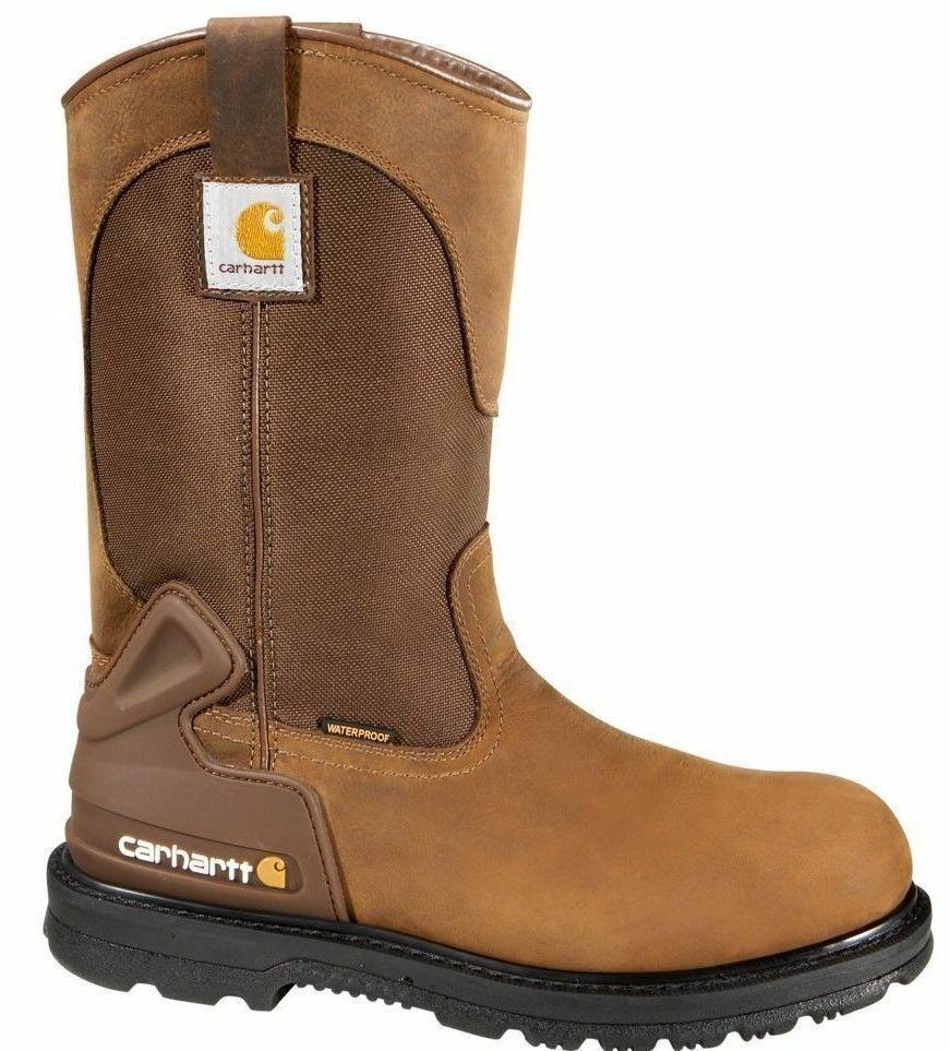 Carhartt Men's 11'' Bison Waterproof Steel Toe Work Boots CMP 1200 NEW
