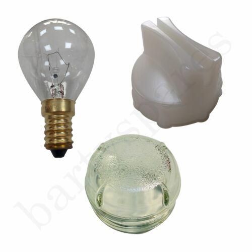 Lampada DI VETRO LENTE COVER con Removal Tool /& Lampadina da 40w per Bosch Forno Fornello