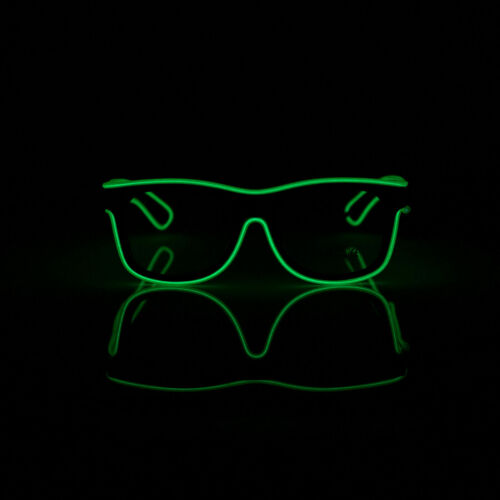 El Wire Neon LED Glasses Light Up Glowing Halloween Eyewear Shades Party Costume