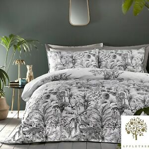 Appletree-EDEN-Grey-180TC-100-Cotton-Duvet-Cover-Set