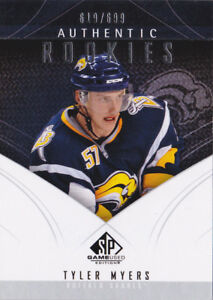 09-10-SP-Game-Used-Tyler-Myers-699-Rookie-Sabres-Winnipeg-Jets-RC-2009