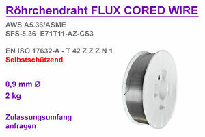 2KG-Fuelldraht-0-9mm-Hunday-Supershield-11-TYPE-Self-Shielded