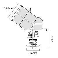 TRIDON HF Thermostat For Holden Statesman V8 HQ 07//71-12//74 5.7L