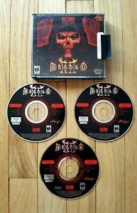 BLIZZARD-ENTERTAINMENT-Diablo-II-2-PC-Video-Game-2000-3-Discs-Complete
