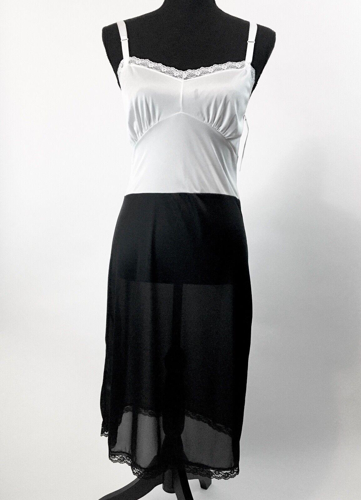 VINTAGE 80'S Slip Nancy King Lingerie Full Dress … - image 1