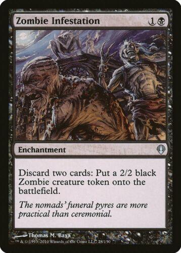 Zombie Infestation Archenemy NM Black Uncommon MAGIC GATHERING CARD ABUGames