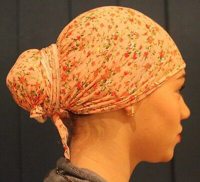 women Head covering Jewish Judaica Woman Tichel Hair Snood Bandana Pre Tied