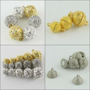 5pcs-Czech-Crystal-Rhinestone-Round-Ball-Strong-Magnetic-Connector-Clasps-8-16mm