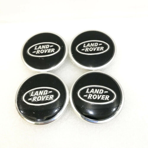 4x For Land Range Rover Wheel Center Hub Caps Black LR2 LR3 LR4 Freelander Sport