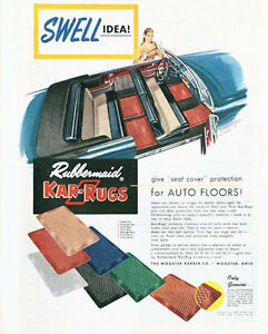 1952 rubbermaid kar-rugs for auto floor mats wooster rubber co