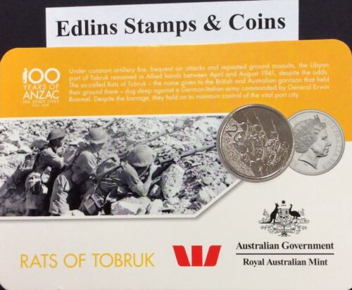 rats of Tobruk 2016 Westpac RAM 20 cent coin
