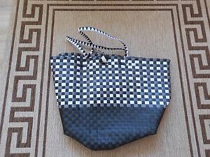 Shopper Tasche Tasche Strandtasche Flecht-Tasche für Damen
