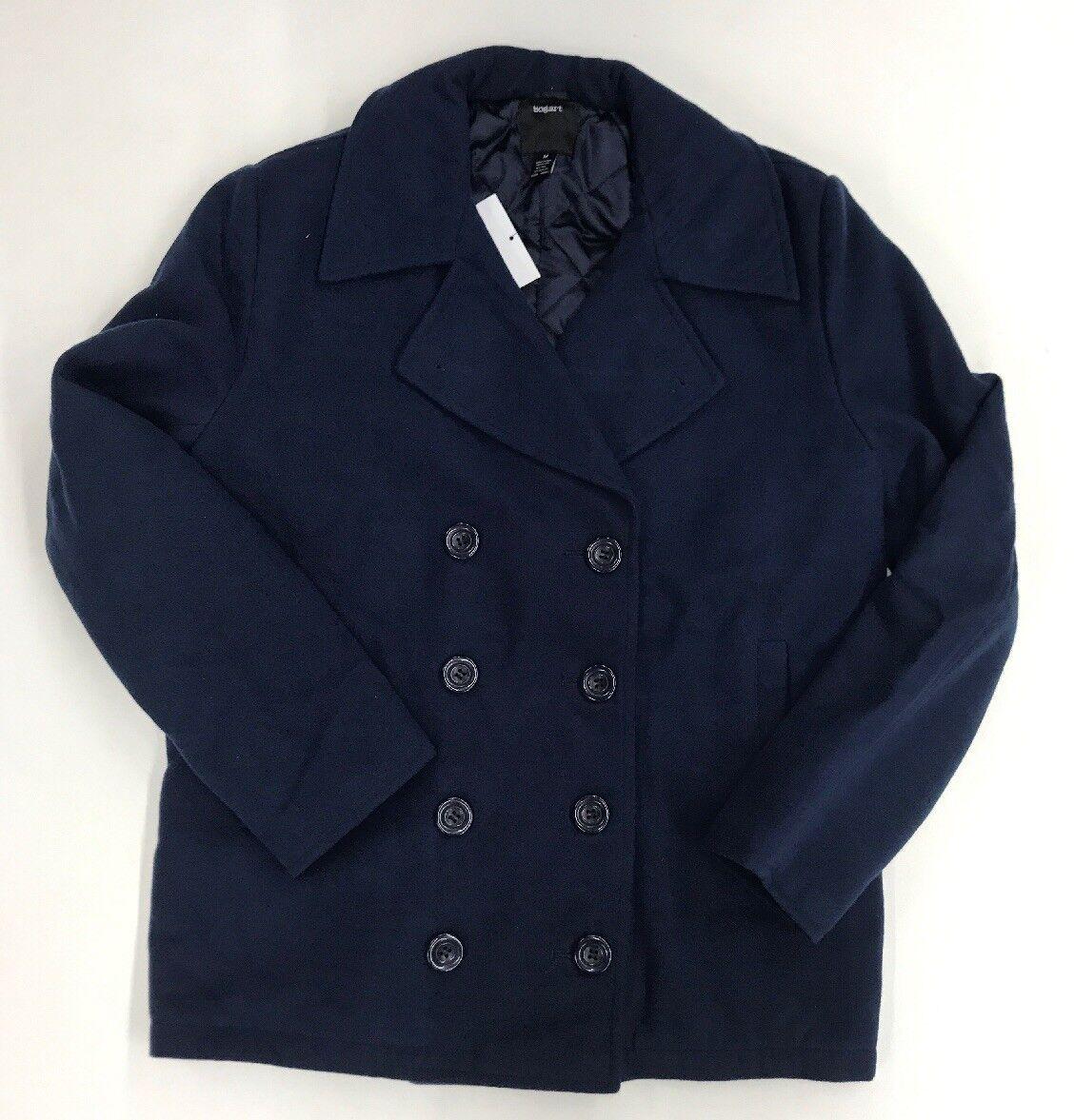 Bogart Marineblau Fleece Stutzer Herren Probe Größe M Nett Neu Selten One Of One
