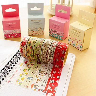 Bulk Lots 2pcs/1.5cm×5M Paper Sticky Adhesive Sticker Decorative Washi Tape