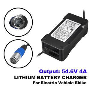 54-6V-4A-Output-48V-Lithium-Li-Ion-Ladegeraet-Netzteil-fuer-eBike-Elektrofahrrad