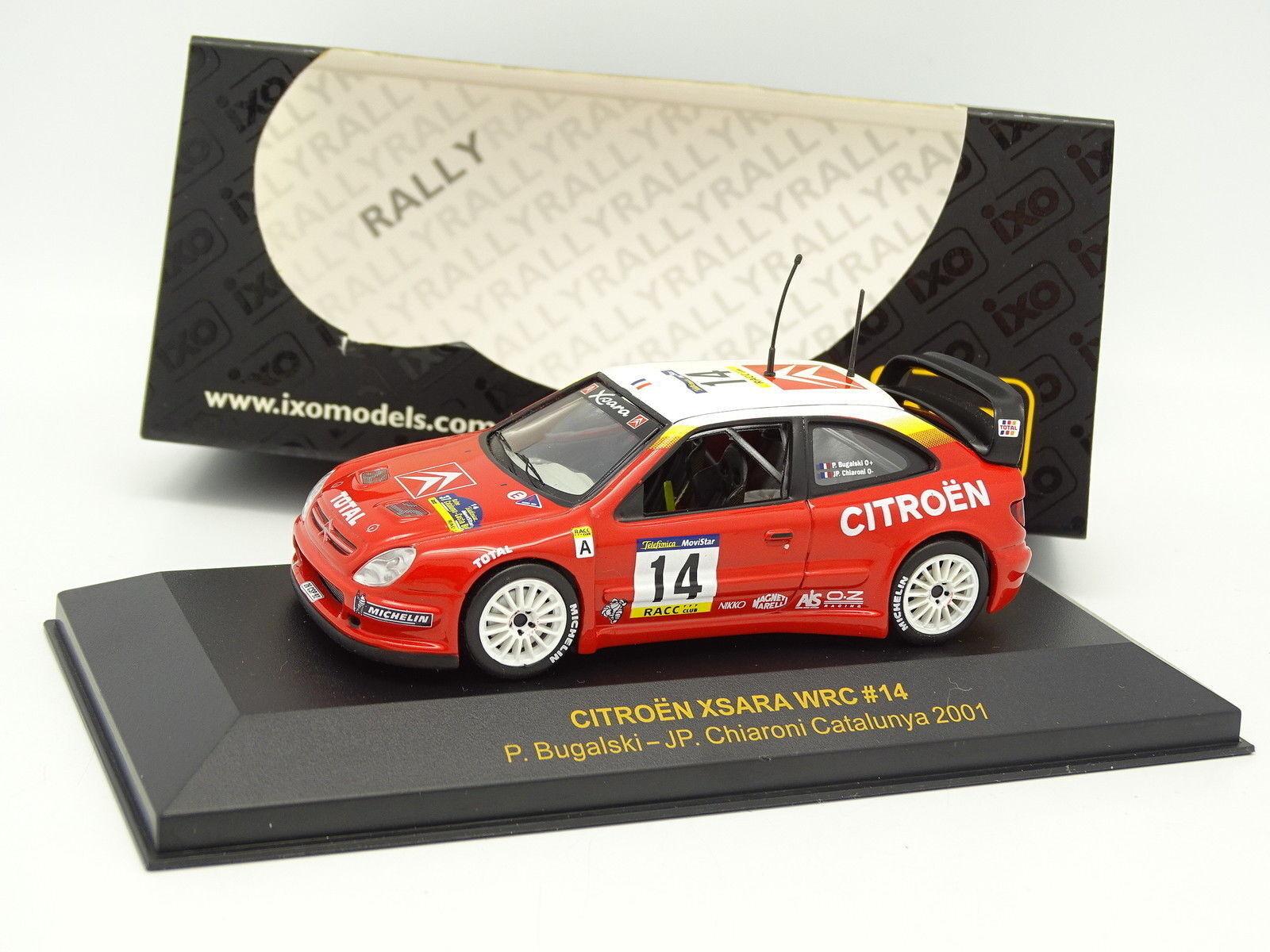 Ixo 1 43 - Citroen Xsara WRC N°14 Bugalski Rallye Catalogne 2001