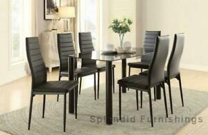 Summer Sale!! Sophisticated & Elegant 5 Pc Glass Dining Set Blow Out Sale at Splendid Furnishings Edmonton Area Preview