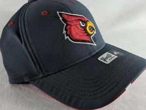 b2f10e66bef Image is loading LZ-Adidas-Adult-Fitted-S-M-Louisville-Cardinals-NCAA-