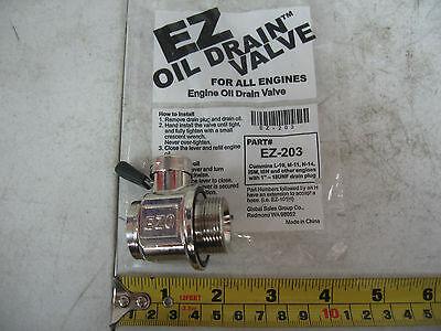 EZ Oil Drain Valve EZ-203TS with pipe nipple Cummins L10 M11 N14 ISM Paccar MX13