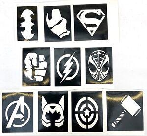 Superhero-Thor-Stencils-Top-Up-Your-Glitter-Tattoo-Kit-Facepainting-Airbrush