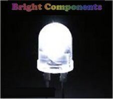 5 x White LED 10mm - Ultra Bright(10000mcd) - 1st CLASS POST - UK