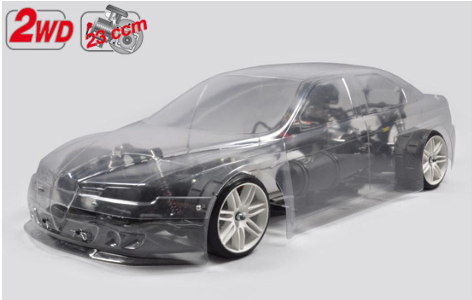 FG modelo Sport New sportline chasis 2wd + Alfa Romeo 23 ccm sin pintar