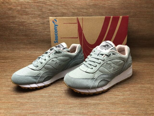buy popular 16111 30e72 Saucony Mens Shadow 6000 HT Perf Aqua Grey | Tan 8.5 M