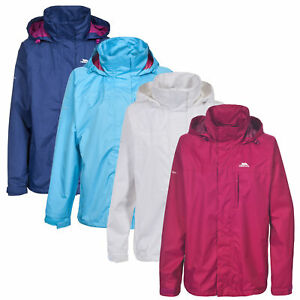 Trespass-Womens-Rain-Jacket-Hooded-Waterproof-Wind-Coat-Lighweight
