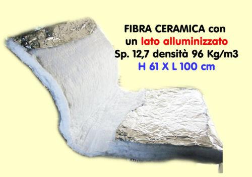ALLUMINUIM BIOTEX FIBREGLASS INSULATION RESISTANT UPTO 1250° FIREPROOF12,7 THICK