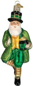 Old World Christmas IRISH SANTA (40201)N Glass Ornament w/ OWC Box