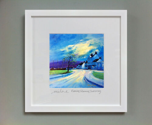 FRASER MILNE /'EVENING GLOAMING INVERARAY/' FRAMED SIGNED PRINT