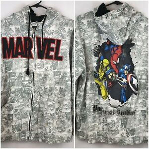 Marvel-Vintage-Comic-Hoodie-Universal-Studios-2009-Adult-L-VTG-Spiderman-Capt