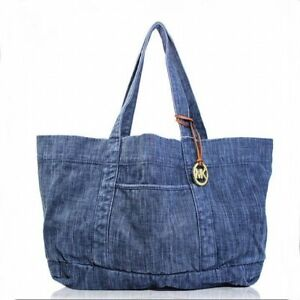 3e4c1f5b00d0 Michael Kors Women's XL Denim Tote Indigo 30t6gdnt9c for sale online | eBay