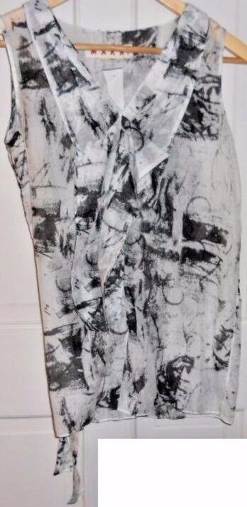 NWT Marni  Art to Wear  Light & Airy Sketchprint Tunic  38  S M