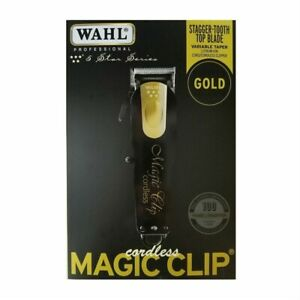 WAHL-CORDLESS-MAGIC-CLIP-BLACK-amp-GOLD-WAHL-8148-100-GENUINE-LIMITED-EDITION