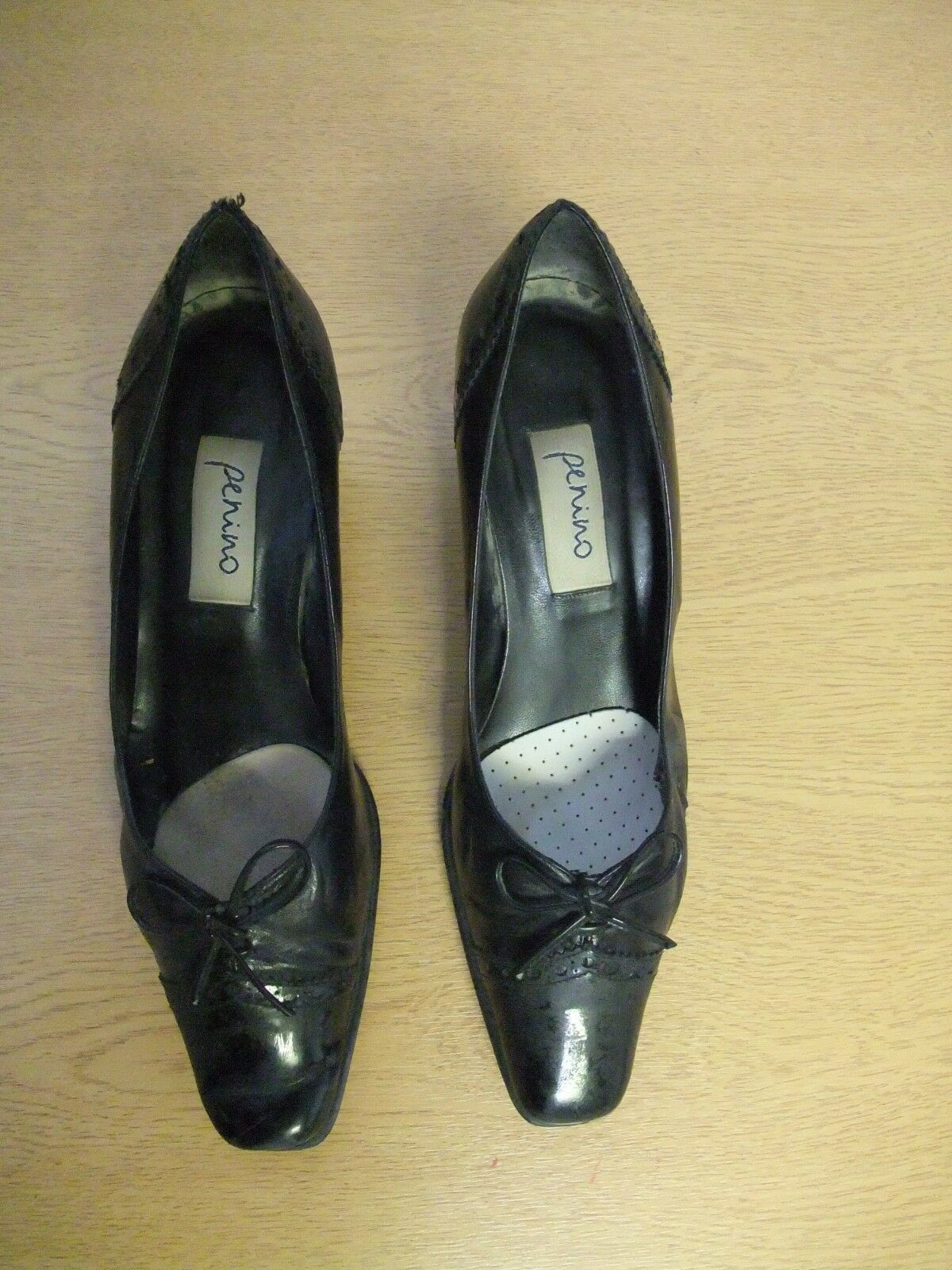Ladies leather Court Shoes Penino black patent leather Ladies & bow, used 3254 a3e9c6