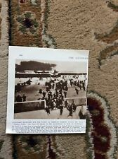 m5-1 ephemera 1943 ww2 picture longchamp racegoers take cover u s a f raid