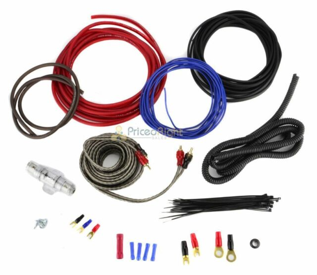 8 Gauge Amplifier Wiring Kit Car Audio Amp 8g Installation Install on