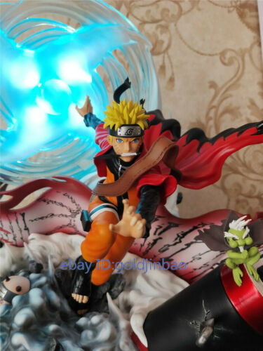 DT Studio Uzumaki Naruto Resin Model Statue Painted Two Head Led Light In Stock