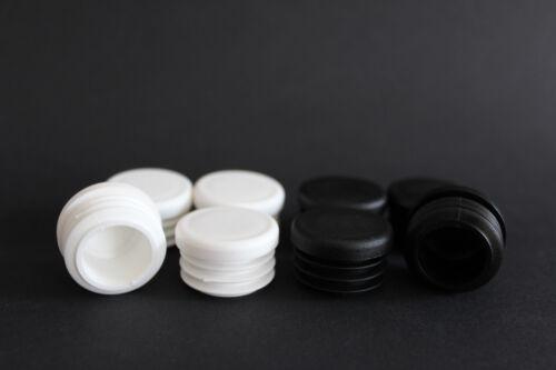 25 mm Gleitkappen Rohrkappen für Rundrohr in weiß und schwarz