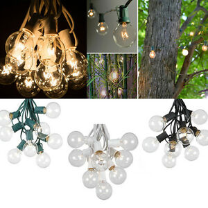 Set-of-25-Clear-Bulbs-25FT-G40-Outdoor-Garden-Globe-Patio-Party-String-Lights
