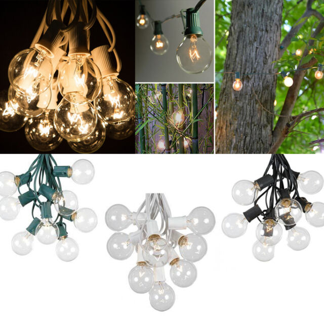 Set of 25 Clear Bulbs: 25FT G40 Outdoor Garden Globe Patio Party String Lights