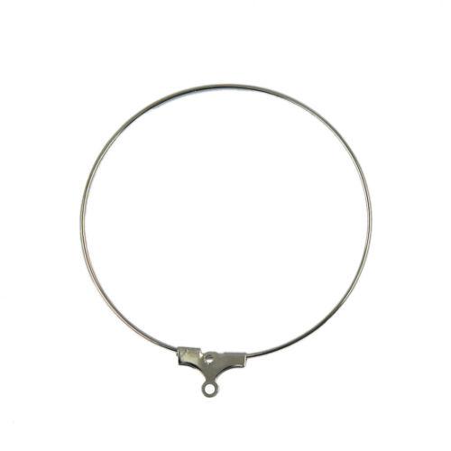 20pcs Silver Charms Beading Hoop Loop Earring Ear Wire Jewelry Findings DIY