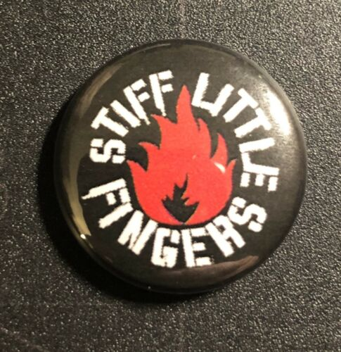"""Stiff Little Fingers1/"""" Button S023B Badge Pin Toy Dolls Templars Cock Sparrer"""