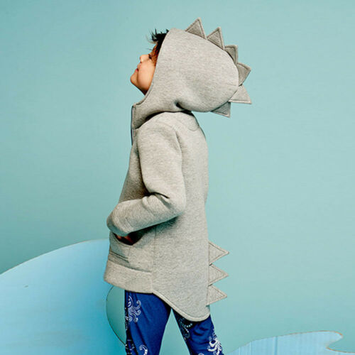 Kids Baby Dinosaur Style Hooded Coat Boys Girl Outwear Jacket Tops Clothes K5